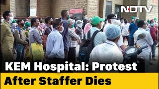 Protest At Mumbai Hospital Over Death Of Staff Allegedly Denied Sick Leave - NDTV