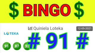 SORTEOS de HOY...! BINGO HOY (( 91 )) loteria LOTEKA de HOY / NÚMEROS QUE MÁS SALEN EN LAS LOTERÍAS