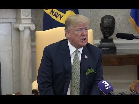 President Donald Trump just said something SHOCKING at meeting with Ireland Prime Minister Varadkar