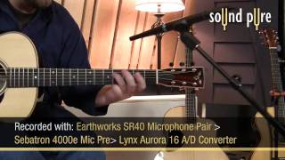 Earthworks SR40 Microphones Acoustic Guitar Video Demo