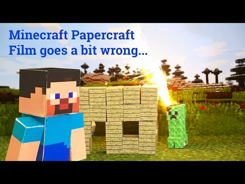 Download Youtube To Mp3 Papercraft Minecraft Film Goes A Bit Wrong