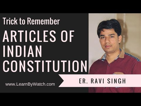 Trick to Remember Articles of Indian Constitution | Part 2 of 3