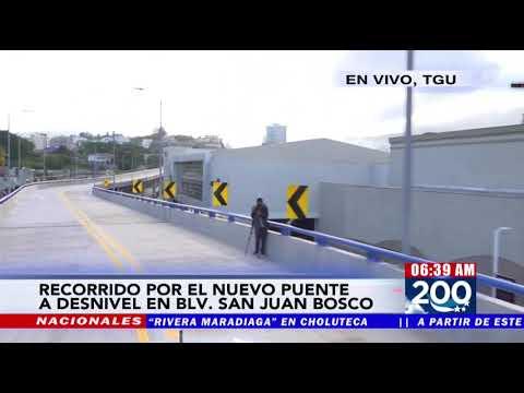 "Habilitado desde hoy puente a desnivel en bulevar ""San Juan Bosco"" TGU"