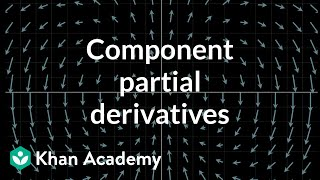 Partial derivatives of vector fields, component by component