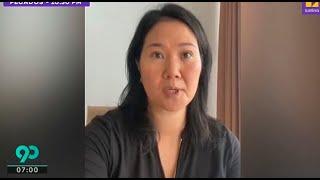 Mira el video que grabó Keiko Fujimori a minutos de volver a la cárcel