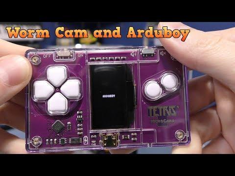 Nyko Worm Cam and Arduboy credit card Tetris Game
