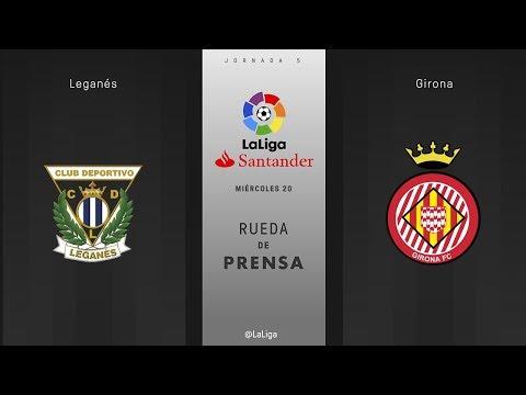 Rueda de prensa Leganes vs Girona