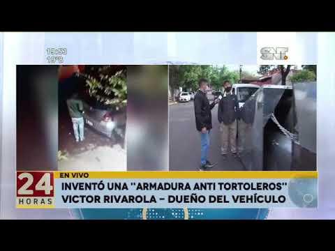 Inventó una Armadura anti-tortoleros para su auto