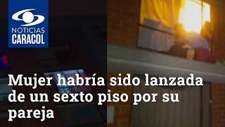 Mujer habría sido lanzada de un sexto piso por su pareja en Soacha