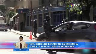 Perú extiende estado de emergencia durante todo el mes de diciembre