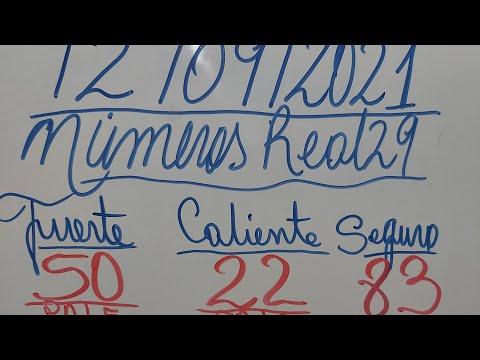 NUMEROS PARA HOY 12/09/2021 DE SEPTIEMBRE PARA TODAS LAS LOTERIAS