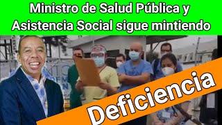 Ministro de Salud Pública y Asistencia Social sigue mintiendo