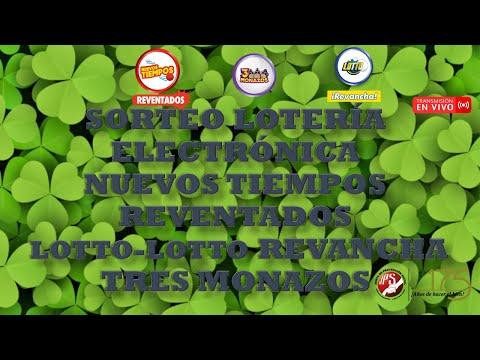 Sorteo Lotto y Lotto Revancha #2172, N Tiempos Reventados #18854 y 3 Monazos #1280 02-10-21 (Noche)