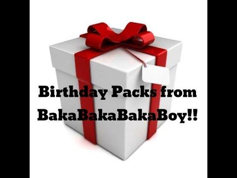 Birthday Packs From BakaBakaBakaBoy!
