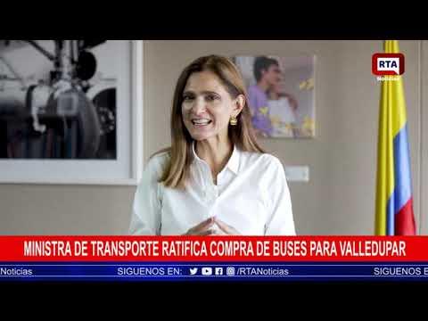 Ministra de Transporte ratifica compra de buses para Valledupar