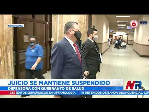 Juicio de Celso Gamboa, Berenice Smith y Johnny Araya suspendido por quebranto de salud