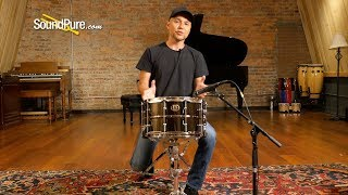 Ludwig 8x14 Black Magic Brass Snare Drum-Chrome-Quick 'n' Dirty