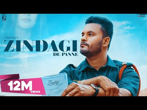ZINDAGI DE PANNE LYRICS - Chetan | Punjabi Sad Song