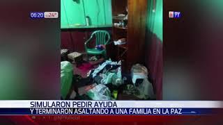 Simularon pedir ayuda y terminaron asaltando a una familia en su vivienda