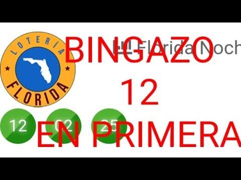 Numeros para hoy(12)bingo en la florida noche,