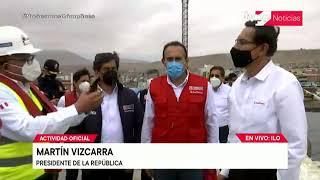Presidente Martín Vizcarra inspecciona obras de reparación del muelle del Terminal Portuario de Ilo