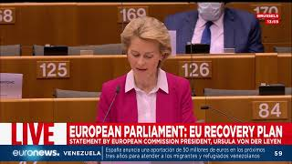 DIRECTO | REPLAY Ursula Von der Leyen presenta su plan para salvar la economía de la UE