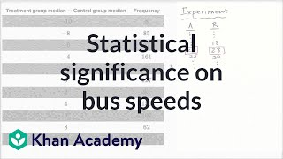 Statistical significance on bus speeds