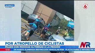 Mujer que atropelló a ciclistas queda en libertad pero con medidas cautelares