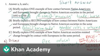 AP US history short answer example 2