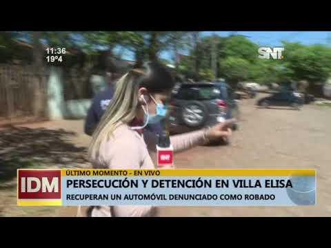 Persecución y detención en Villa Elisa