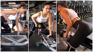 Actress Pragya Jaiswal Super Hot Gym Workout | Telugu Actress Workout Videos | TFPC - TFPC