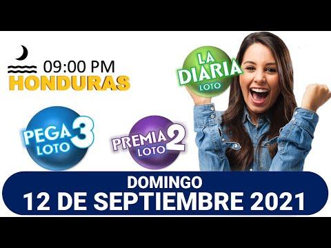 Sorteo 09 PM Loto Honduras, La Diaria, Pega 3, Premia 2, DOMINGO 12 de septiembre 2021 |