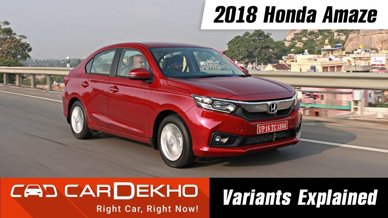 2018 Honda Amaze - Which Variant To Buy?