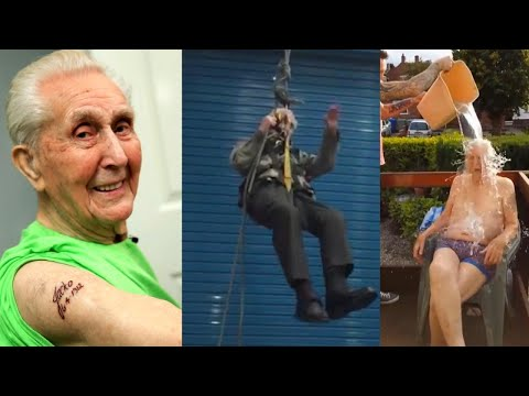 connectYoutube - 105-Year-Old Daredevil May Be the World's Oldest Man to Rappel