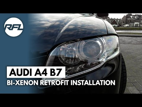 audi a4 b7 mini h1 bi xenon projector headlight youtube autos post. Black Bedroom Furniture Sets. Home Design Ideas