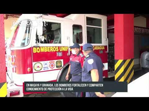 Bomberos capacitan a estudiantes con técnicas de primeros auxilios en Masaya y Granada - Nicaragua