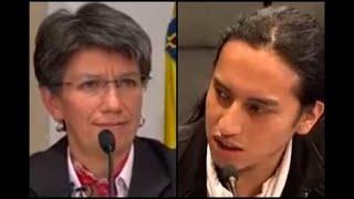 El cara a cara de Claudia López con un estudiante por disturbios en la U. Distrital