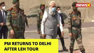PM Returns to Delhi After Leh Tour | NewsX - NEWSXLIVE