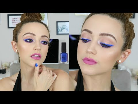 Easy Colorful Makeup Tutorial | Summer Blue & Bright Lips