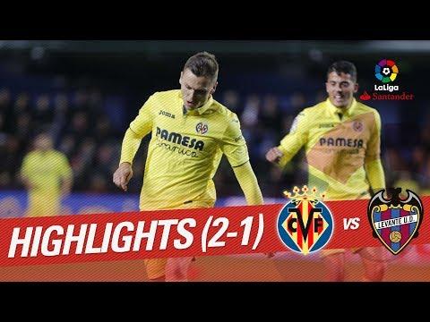 Resumen de Villarreal CF vs Levante UD (2-1)