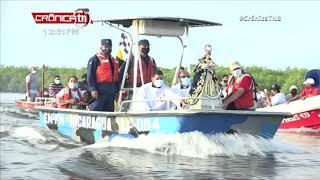 Católicos participan en la novena peregrinación acuática en Chinandega - Nicaragua