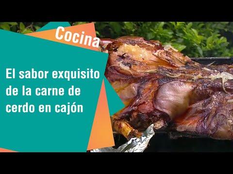El sabor exquisito de la carne de cerdo en cajón   Cocina