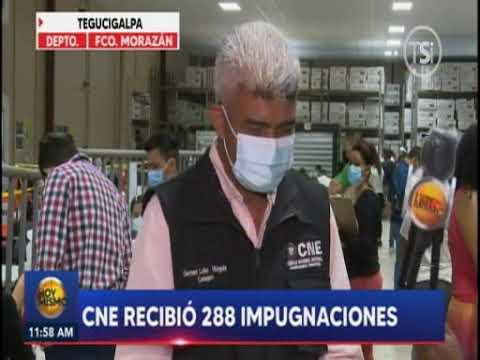 CNE recibió 288 impugnaciones