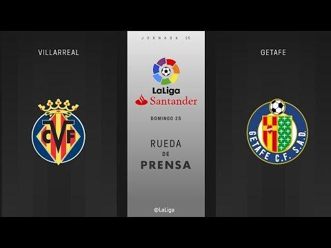 Rueda de prensa Villarreal vs Getafe