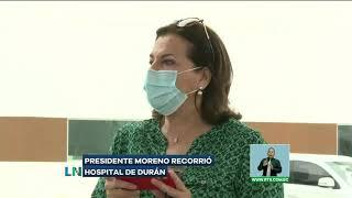 Presidente Moreno recorrió hospital de Durán