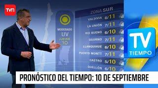 Pronóstico del tiempo: Jueves 10 de septiembre | TV Tiempo