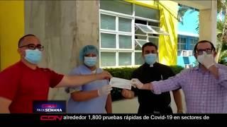 Senador provincia Duarte aporta más de RD$100 mil para desinfección del hospital