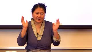 Tibetan Medicine warm oil massage - Contemplation By Design Summit 2017, Stanford University