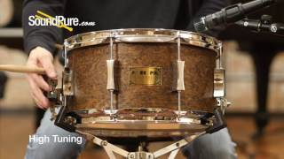 Pork Pie 7x13 Brandied Peach Maple Snare Drum - Walnut Oil Quick n' Dirty