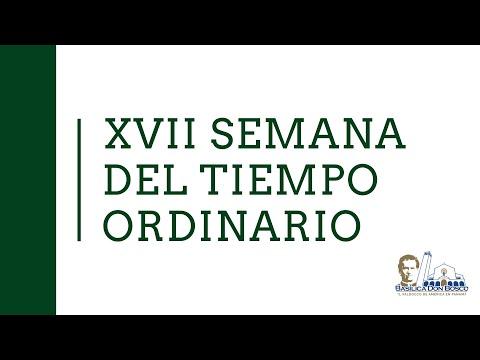 Misa Vespertina. Vísperas del Domingo de la semana XVIII del Tiempo Ordinario.